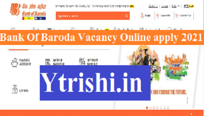 Bank Of Baroda Vacancy Online apply 2021