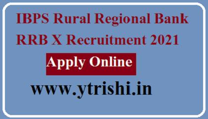 IBPS Rural Regional Bank RRB X Recruitment 2021