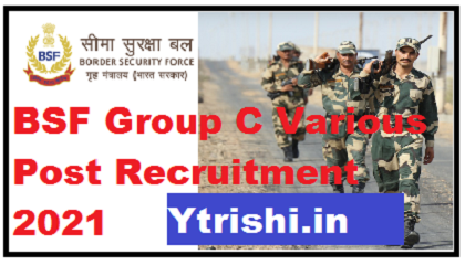 BSF Group C Various Post Recruitment 2021